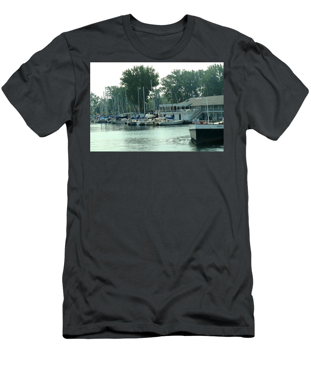 Toronto Men's T-Shirt (Athletic Fit) featuring the photograph A Yacht Club by Ian MacDonald
