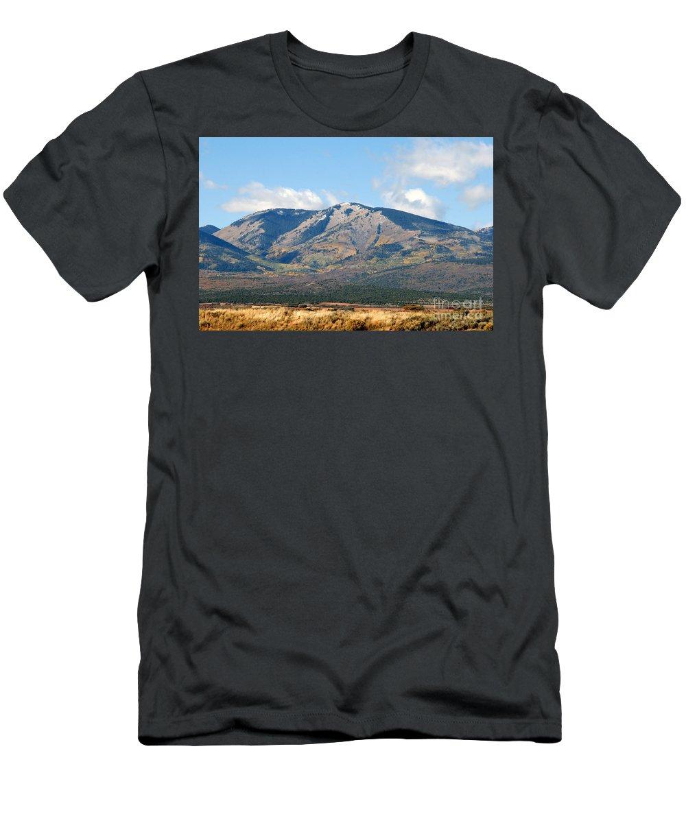 Abajo Mountains Utah Men's T-Shirt (Athletic Fit) featuring the photograph Abajo Mountains Utah by David Lee Thompson