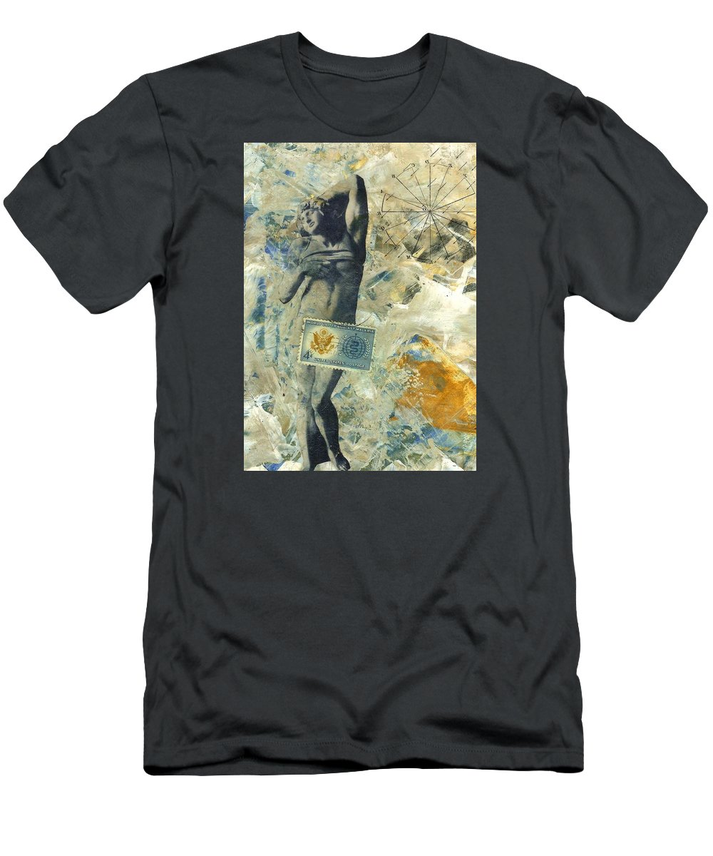 Surrender Men's T-Shirt (Athletic Fit) featuring the mixed media Abandon by Dick Allowatt