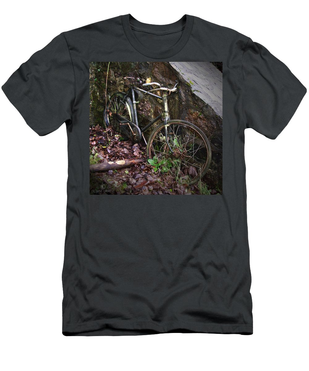 Irish Men's T-Shirt (Athletic Fit) featuring the photograph Abandoned Bicycle by Tim Nyberg
