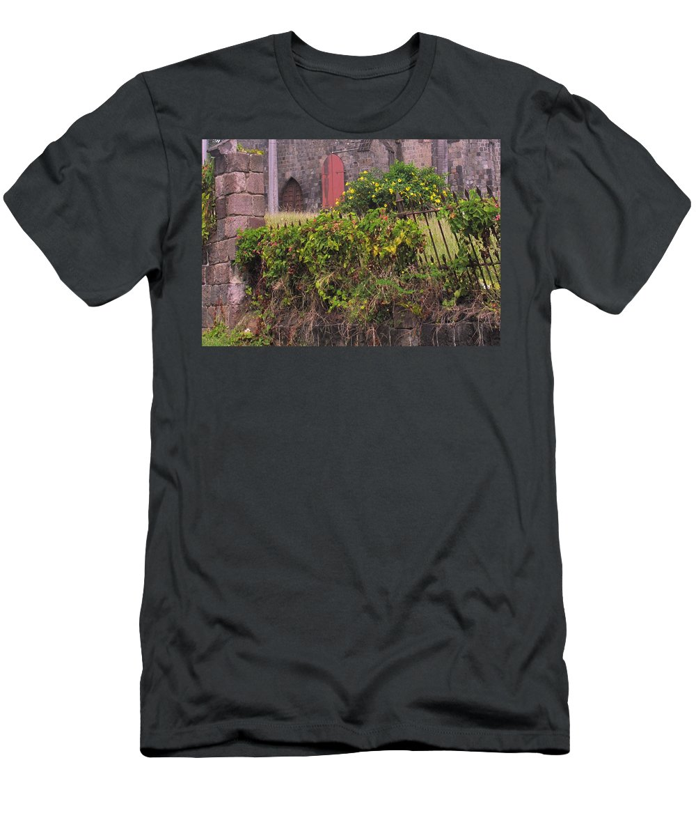 Anglican Men's T-Shirt (Athletic Fit) featuring the photograph Abandoned Churchyard by Ian MacDonald