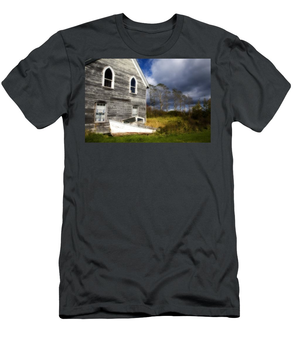 Abandoned Men's T-Shirt (Athletic Fit) featuring the photograph Abandoned by Eggers Photography