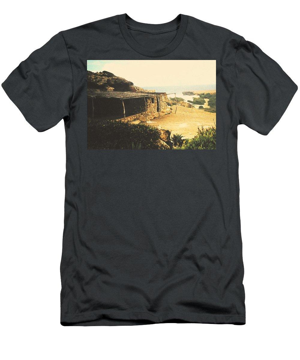 Aruba Men's T-Shirt (Athletic Fit) featuring the photograph Abandoned In Aruba by Ian MacDonald