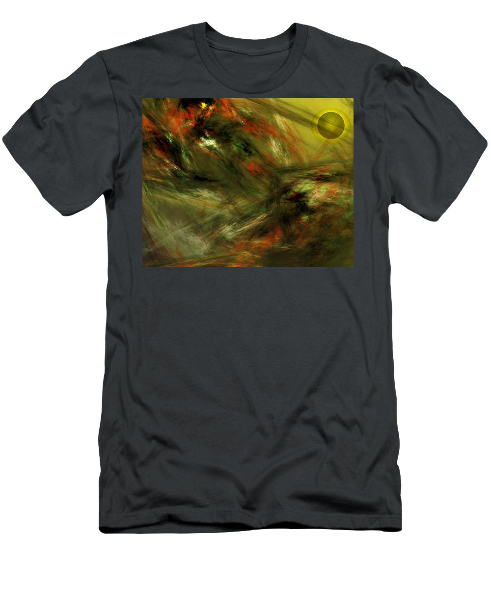 Fine Art Digital Art Men's T-Shirt (Athletic Fit) featuring the digital art Abstract 102910a by David Lane