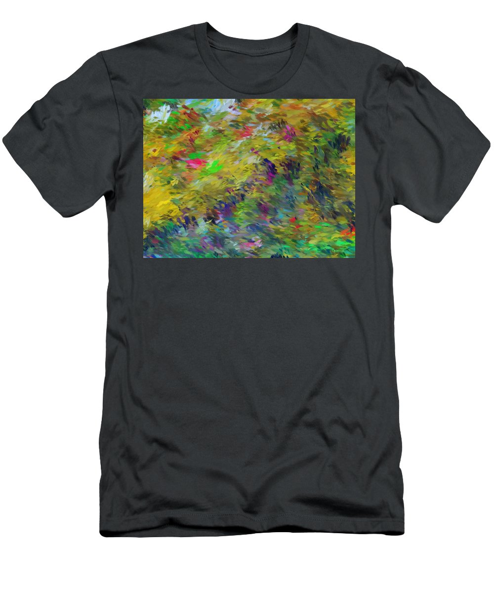 Abstract Men's T-Shirt (Athletic Fit) featuring the digital art Abstract 111510 by David Lane