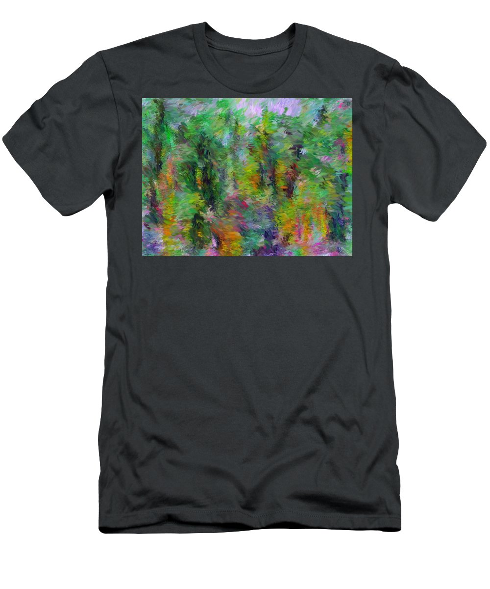 Fine Art Men's T-Shirt (Athletic Fit) featuring the digital art Abstract 111510a by David Lane