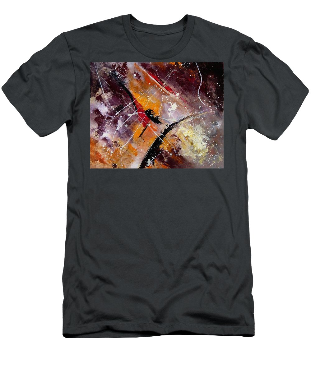Abstract Men's T-Shirt (Athletic Fit) featuring the painting Abstract 45 by Pol Ledent