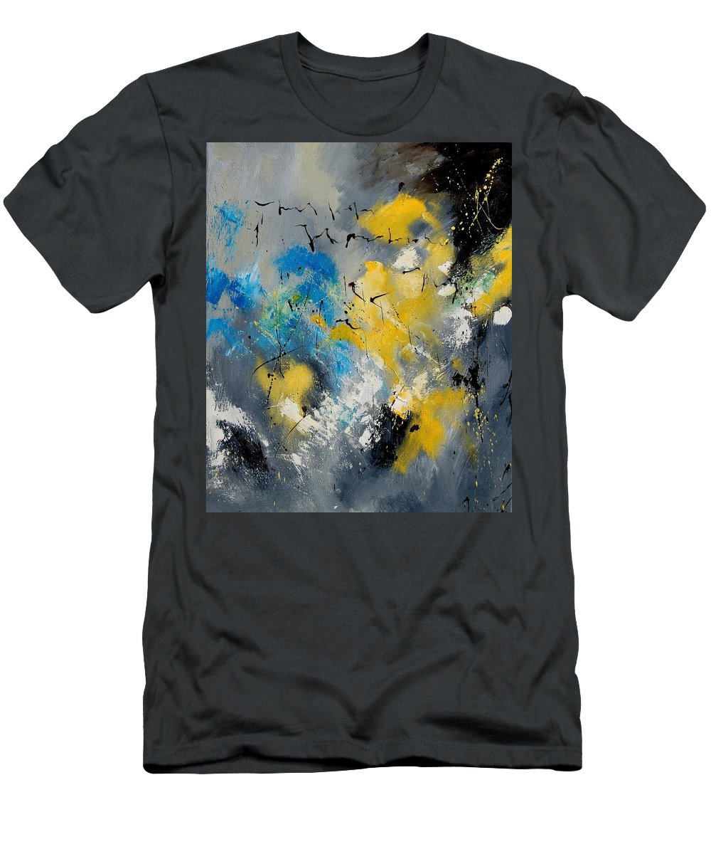Abstract Men's T-Shirt (Athletic Fit) featuring the painting Abstract 569070 by Pol Ledent