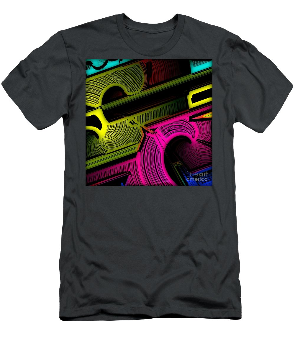 Abstract Men's T-Shirt (Athletic Fit) featuring the digital art Abstract 6-21-09 by David Lane