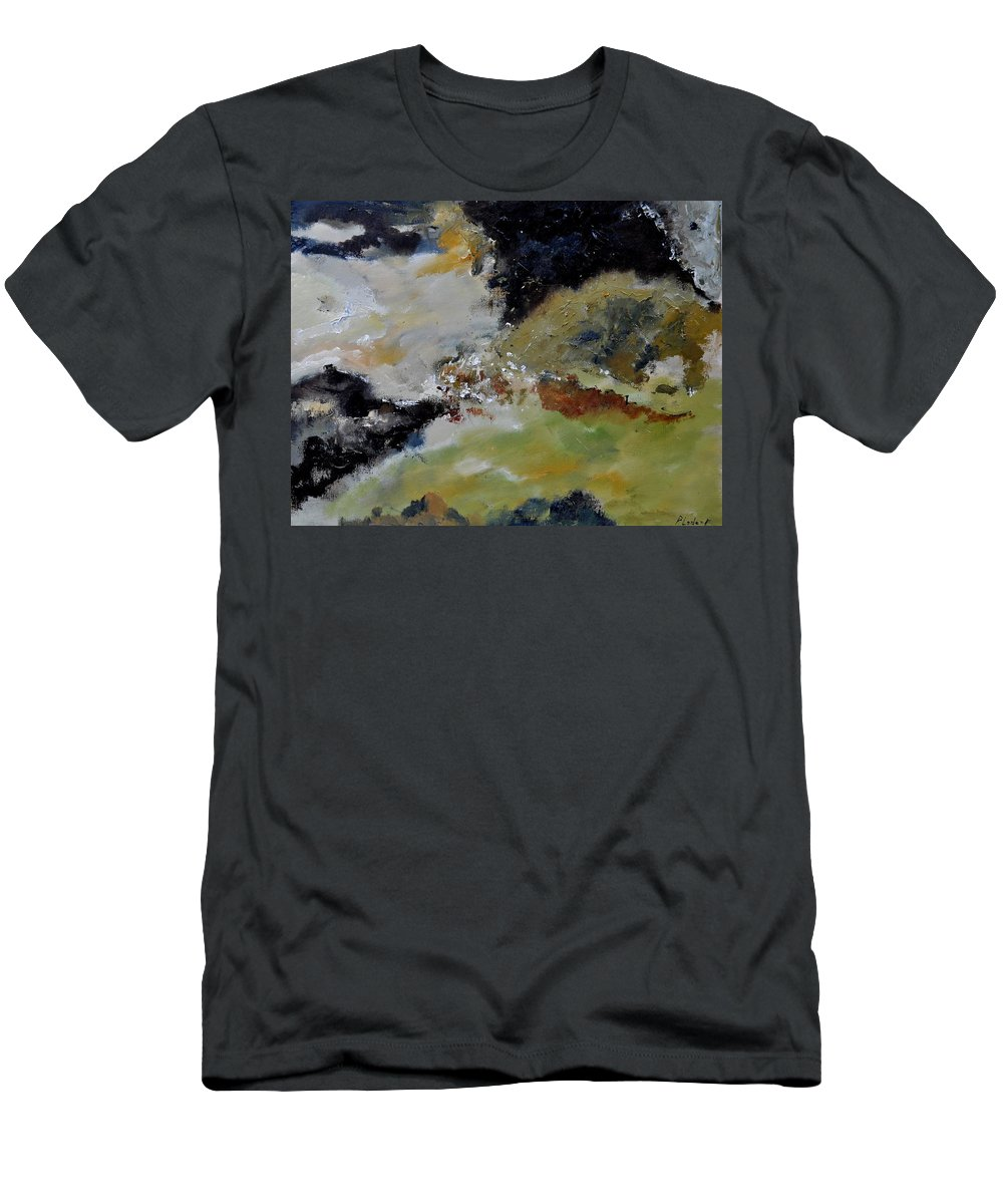 Abstract Men's T-Shirt (Athletic Fit) featuring the painting Abstract 790180 by Pol Ledent