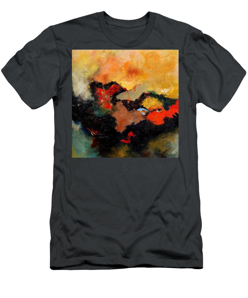 Abstract Men's T-Shirt (Athletic Fit) featuring the painting Abstract 8080 by Pol Ledent