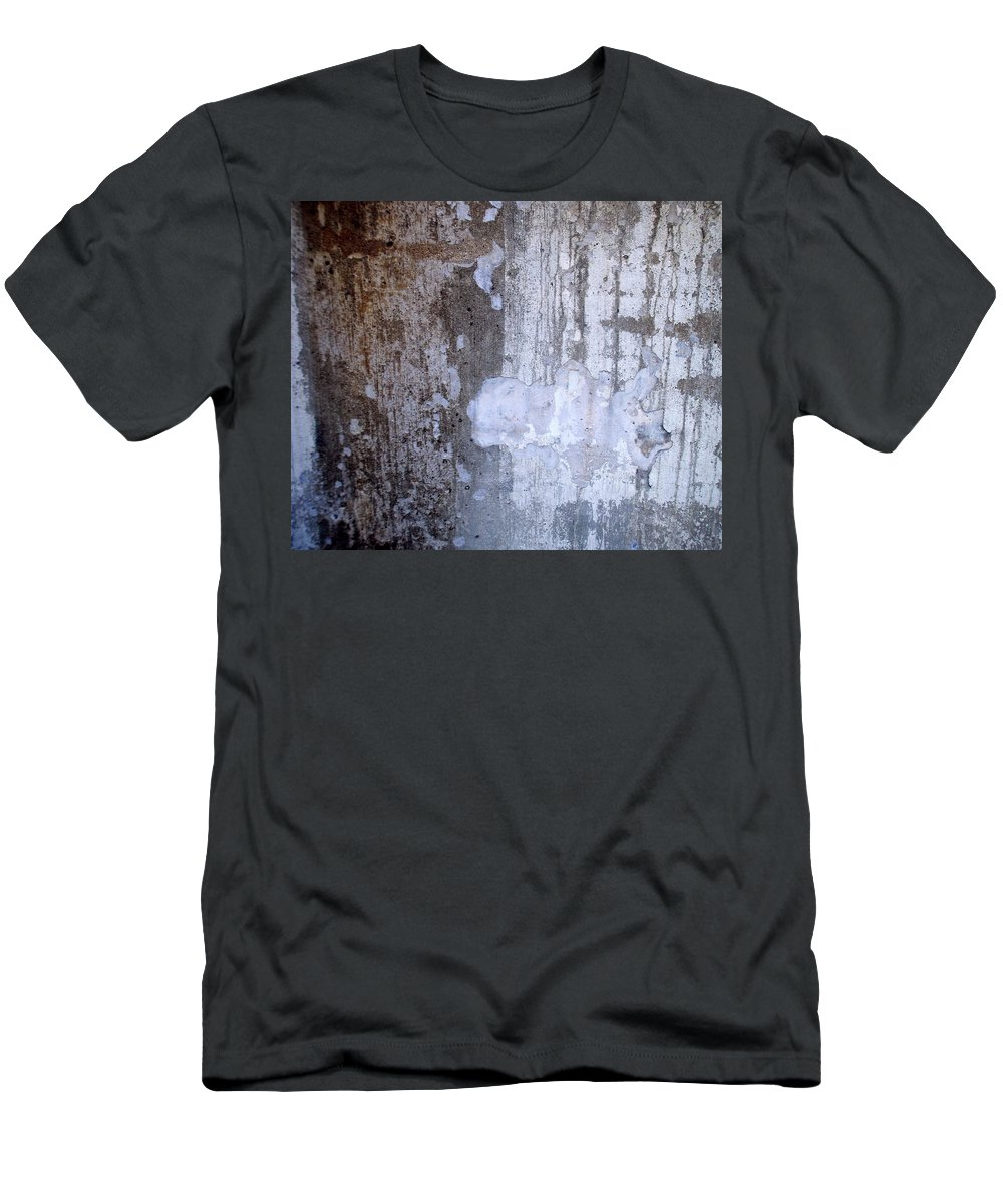 Industrial. Urban Men's T-Shirt (Athletic Fit) featuring the photograph Abstract Concrete 8 by Anita Burgermeister