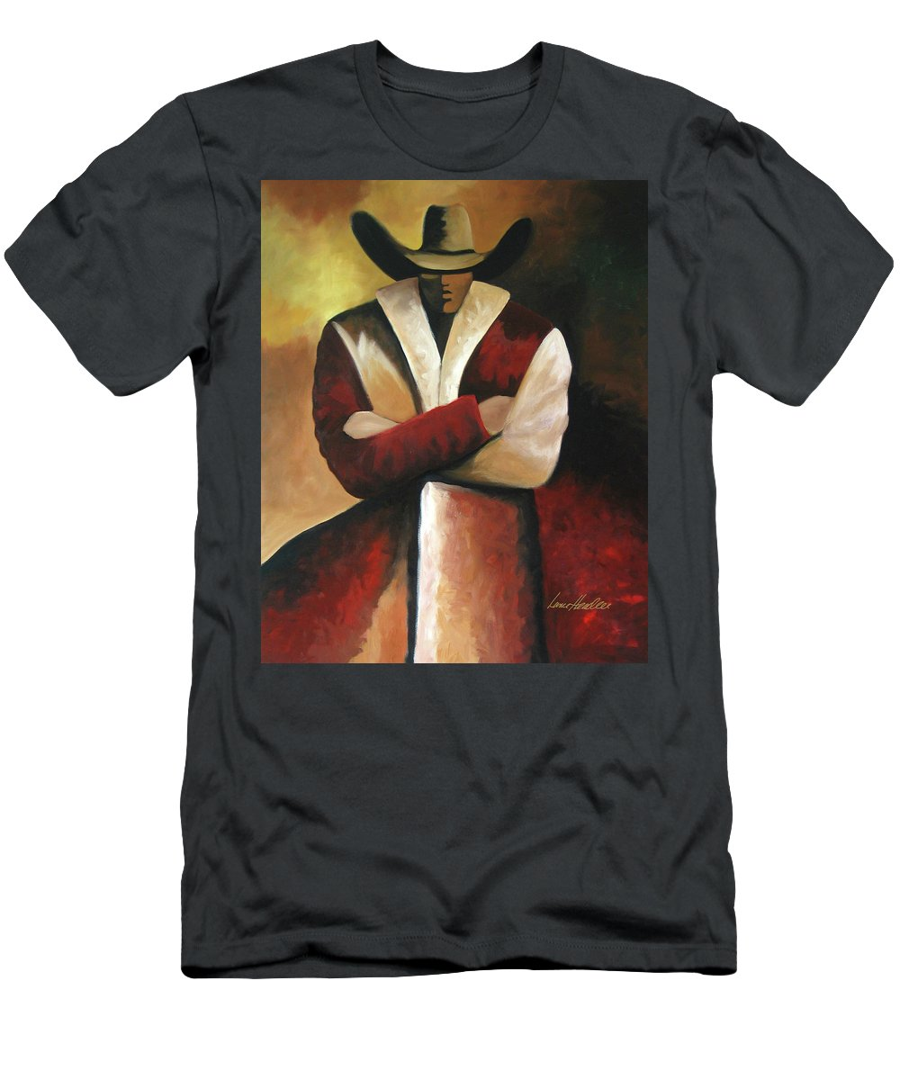 Men's T-Shirt (Athletic Fit) featuring the painting Abstract Cowboy by Lance Headlee