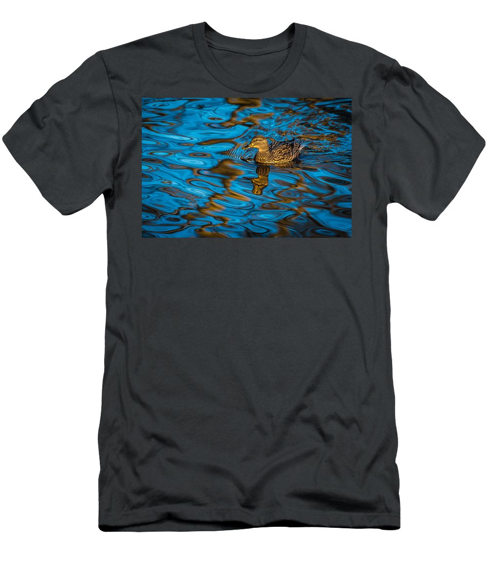 Csp Men's T-Shirt (Athletic Fit) featuring the photograph Abstract Duck by David Downs