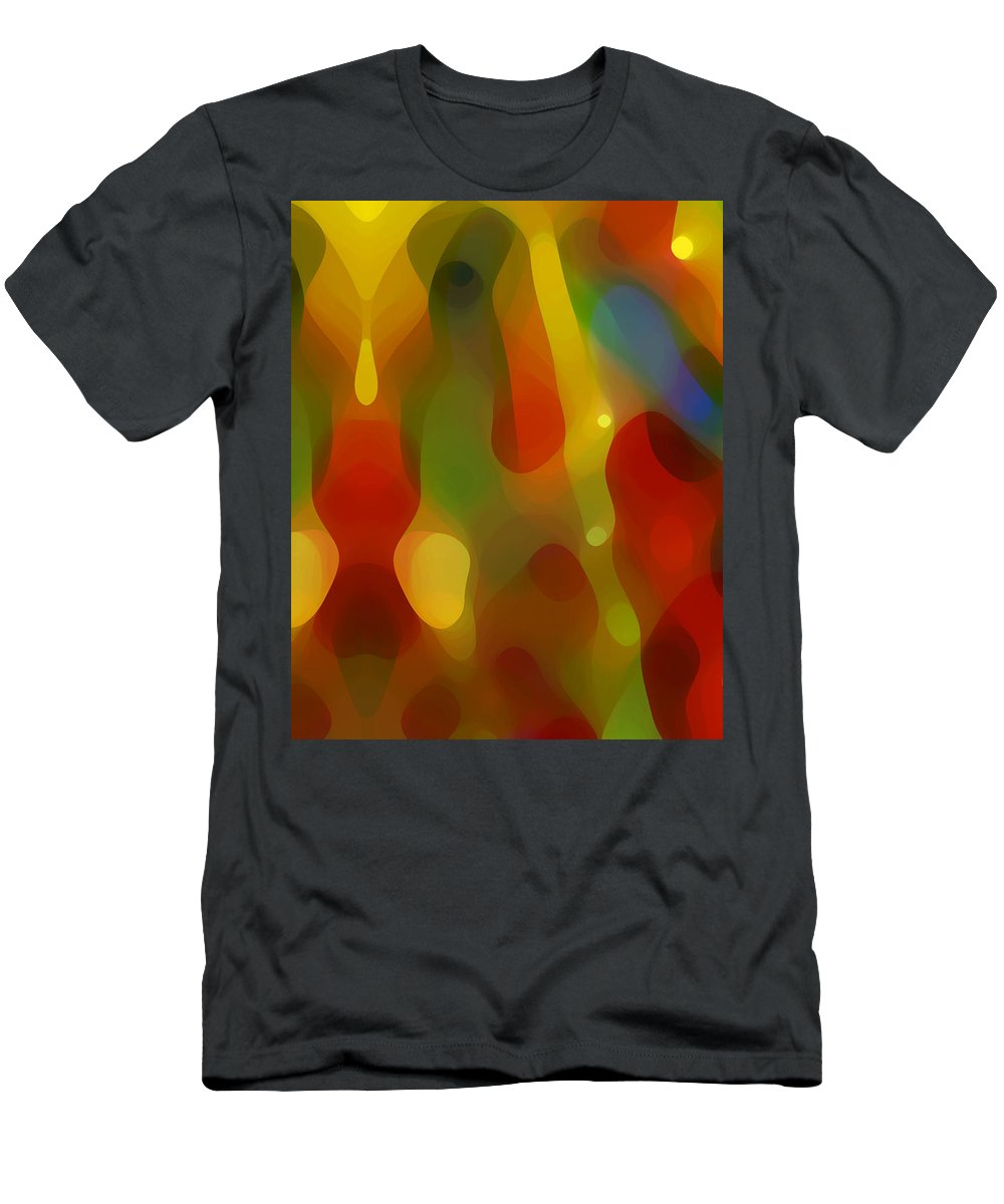 Abstract Art Men's T-Shirt (Athletic Fit) featuring the painting Abstract Flowing Light by Amy Vangsgard