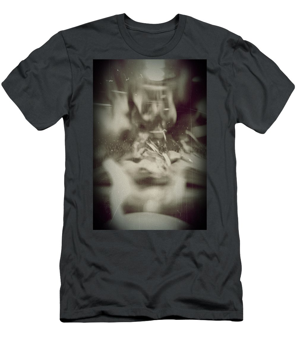 Abstract Men's T-Shirt (Athletic Fit) featuring the photograph Abstract Glass by Scott Wyatt