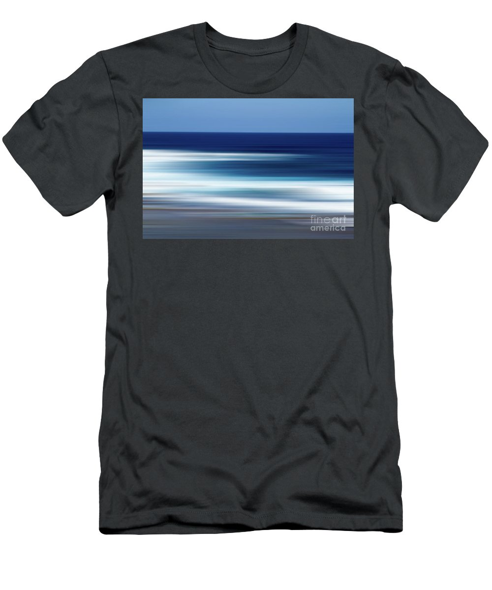 Ocean Men's T-Shirt (Athletic Fit) featuring the photograph Abstract Ocean Waves by Josephine Cleopahrt