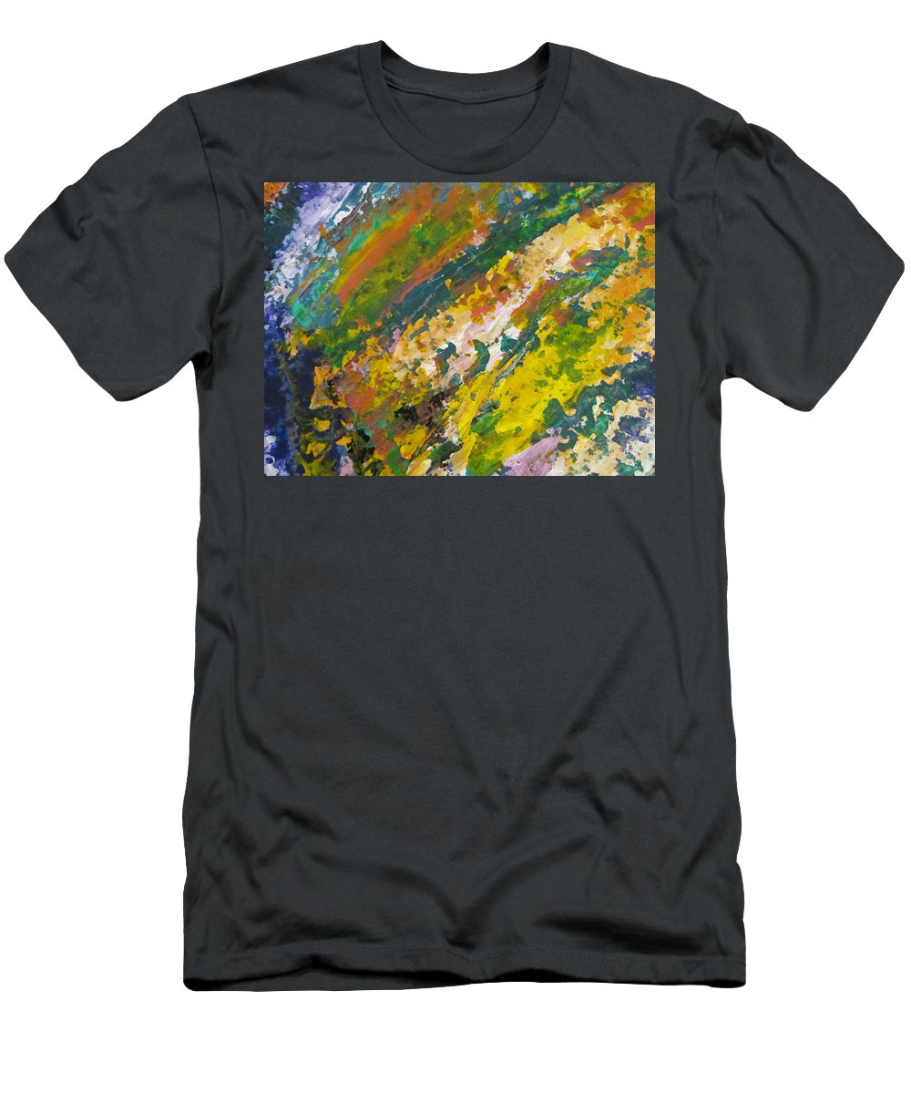Abstract Men's T-Shirt (Athletic Fit) featuring the painting Abstract Piano 3 by Anita Burgermeister