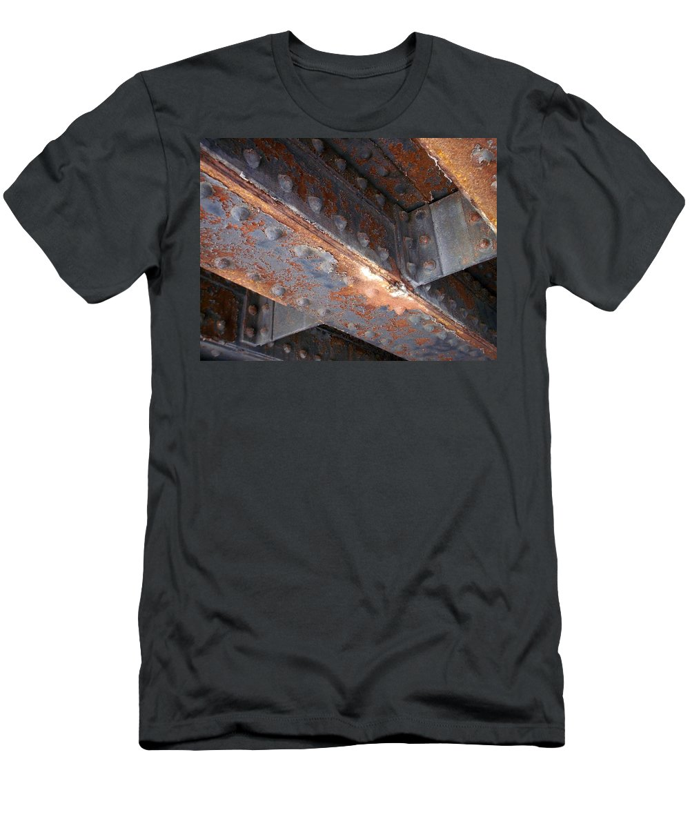 Urban Men's T-Shirt (Athletic Fit) featuring the photograph Abstract Rust 3 by Anita Burgermeister