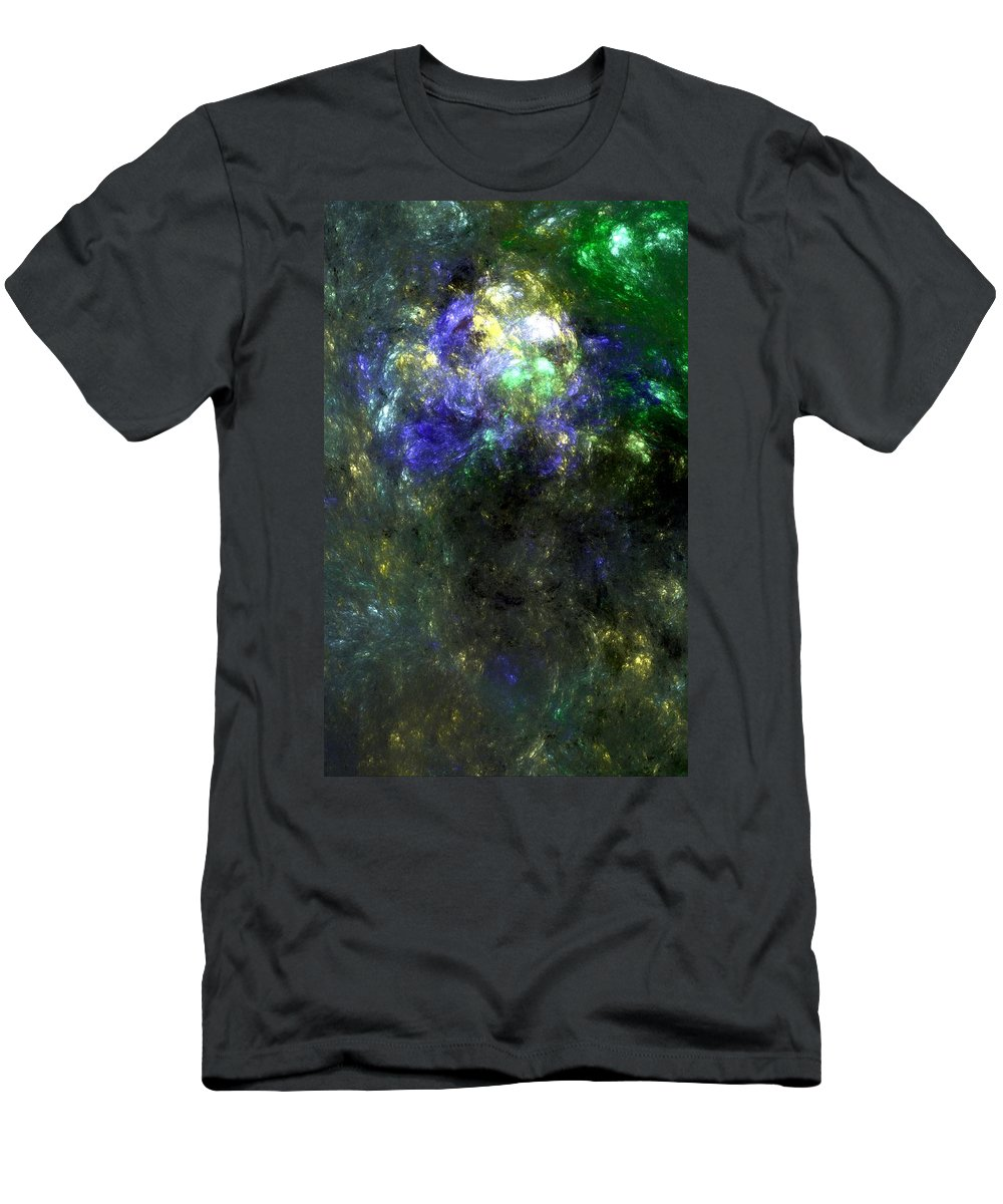 Abstract Expressionism Men's T-Shirt (Athletic Fit) featuring the digital art Abstract08-14-09 by David Lane