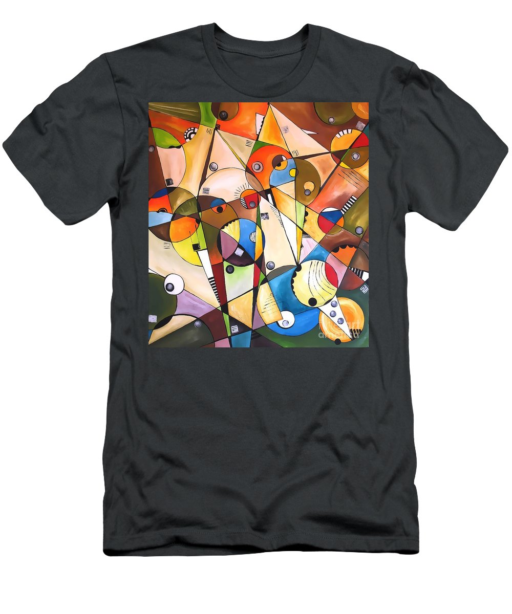 Abstraction Men's T-Shirt (Athletic Fit) featuring the digital art Abstraction 1768 by Marek Lutek