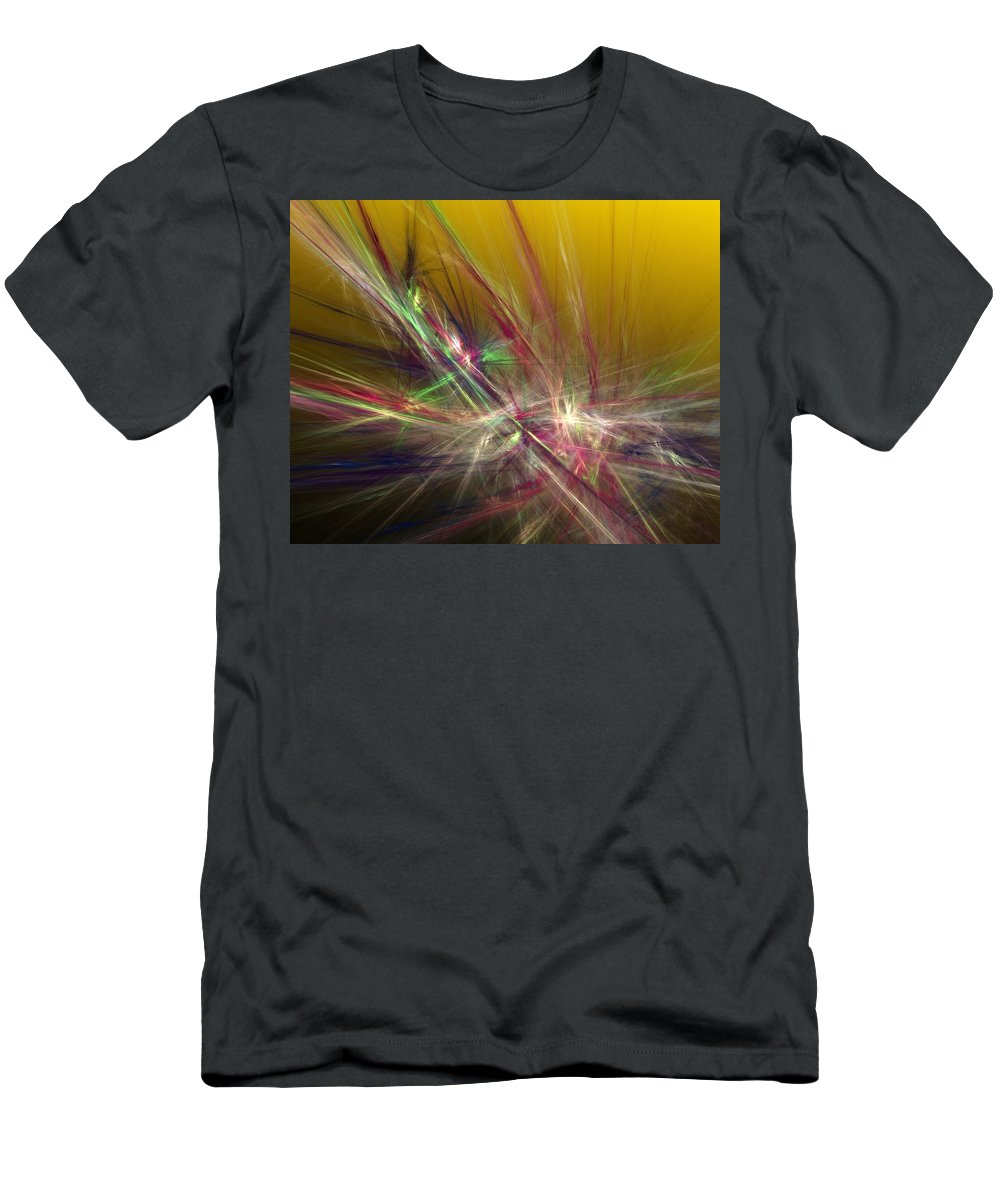 Fine Art Digital Art Men's T-Shirt (Athletic Fit) featuring the digital art Abstracty 110310 by David Lane
