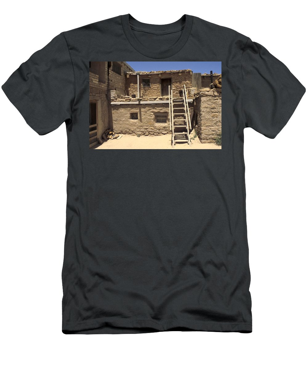 Acoma Men's T-Shirt (Athletic Fit) featuring the photograph Acoma Pueblo by Jerry McElroy