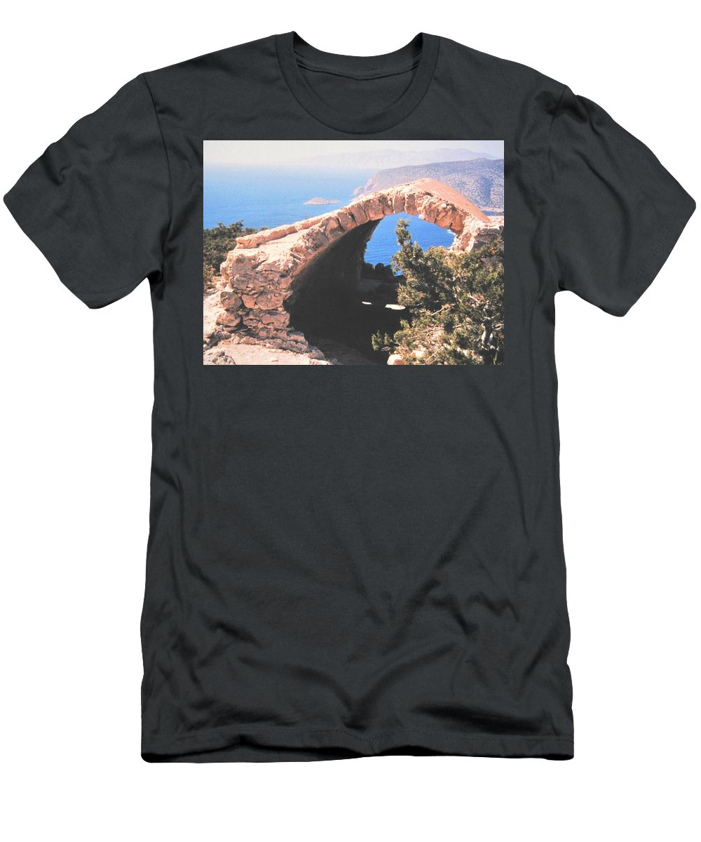 Greece Men's T-Shirt (Athletic Fit) featuring the photograph Across To Turkey by Ian MacDonald