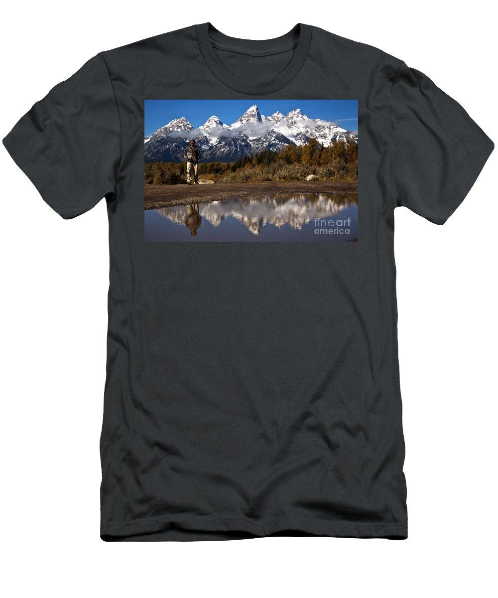 Gtnp Men's T-Shirt (Athletic Fit) featuring the photograph Adam Jewell At Schwabacher Landing by Adam Jewell