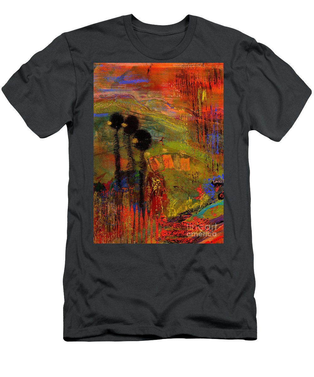 Gretting Cards Men's T-Shirt (Athletic Fit) featuring the mixed media Admiring God's Handiwork I by Angela L Walker