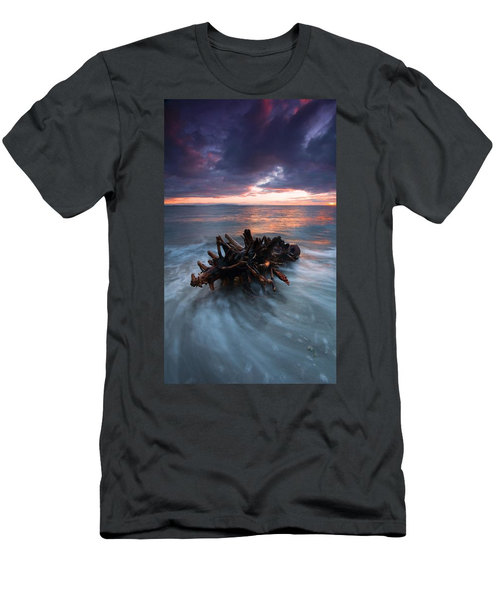 Stump Men's T-Shirt (Athletic Fit) featuring the photograph Adrift by Mike Dawson