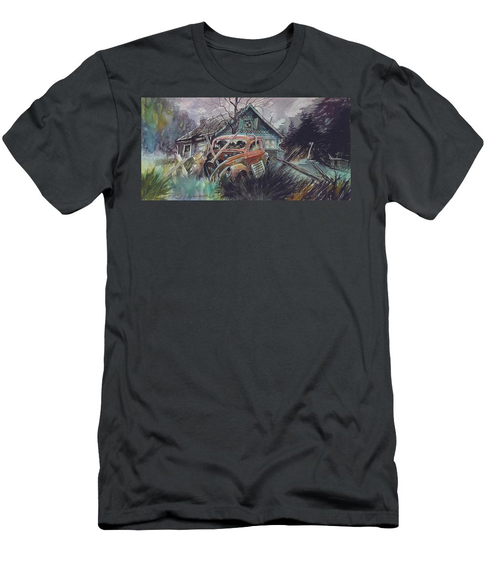 Ford T-Shirt featuring the painting Affordable by Ron Morrison
