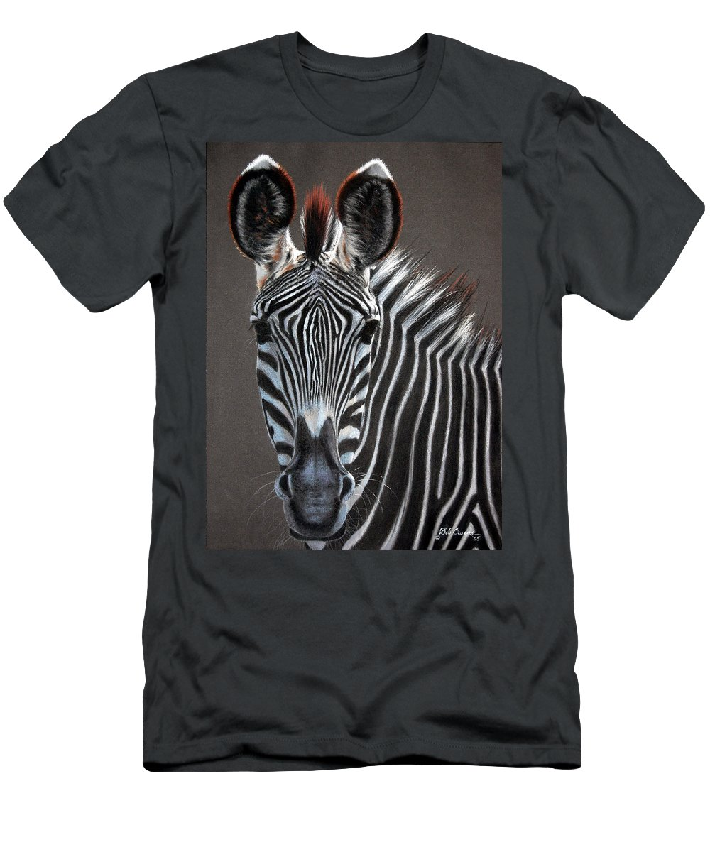 Wildlife Men's T-Shirt (Athletic Fit) featuring the painting African Beauty by Deb Owens-Lowe
