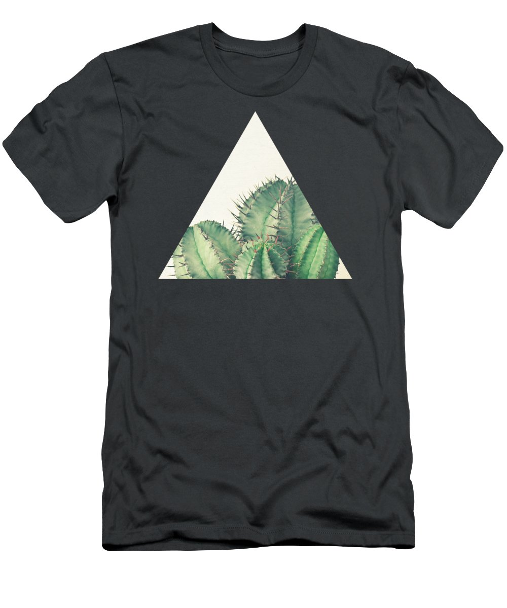 Cactus T-Shirt featuring the photograph African Milk Barrel by Cassia Beck