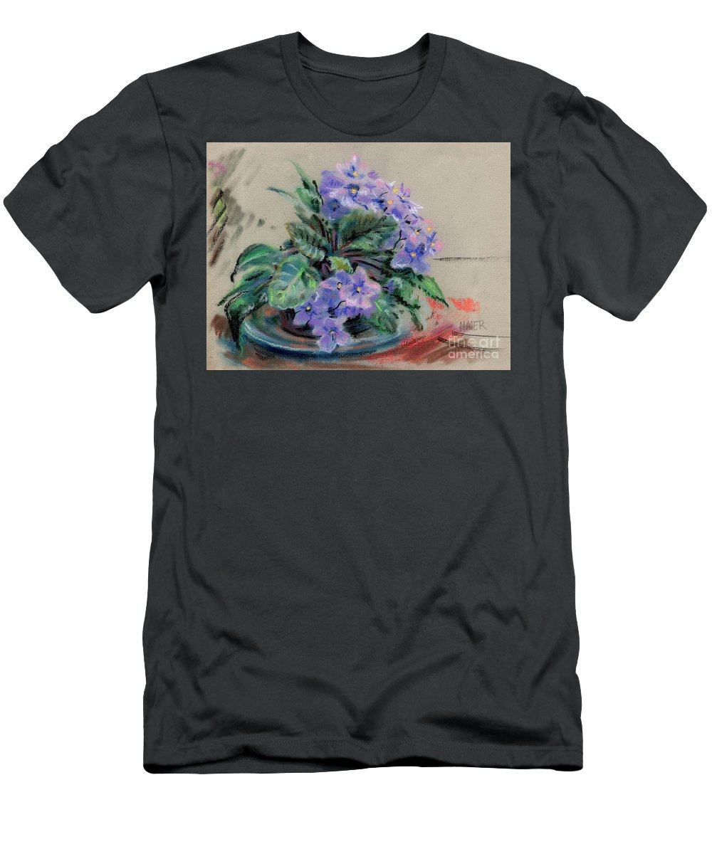 African Violets Men's T-Shirt (Athletic Fit) featuring the drawing African Violet by Donald Maier