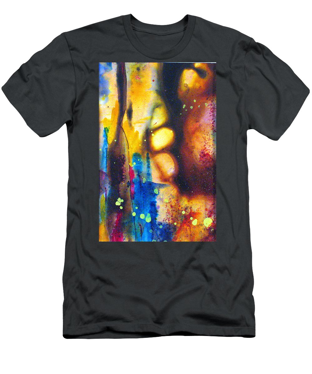 Wine Men's T-Shirt (Athletic Fit) featuring the painting After Five by Janice Nabors Raiteri