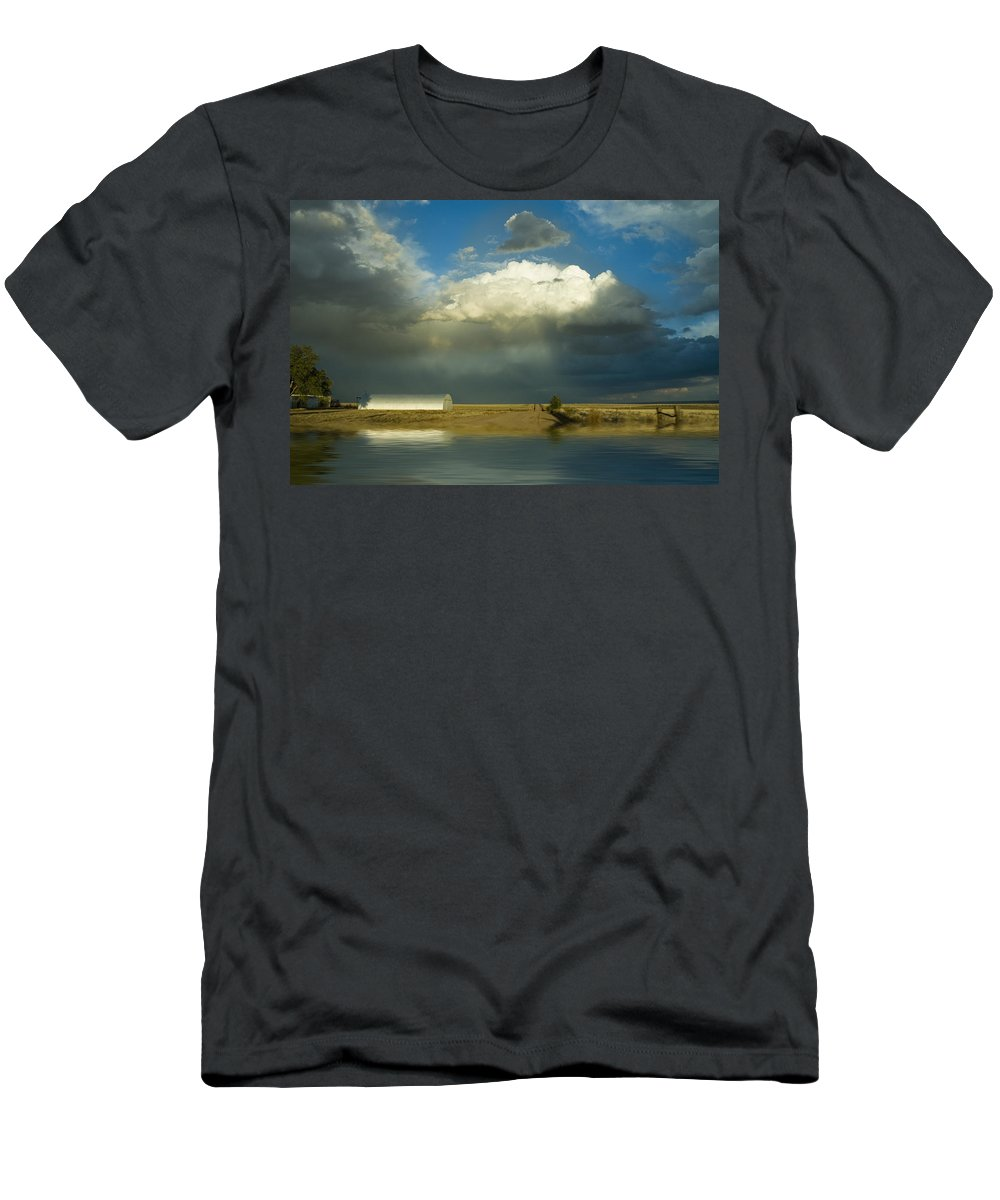 Storm Men's T-Shirt (Athletic Fit) featuring the photograph After The Storm by Jerry McElroy