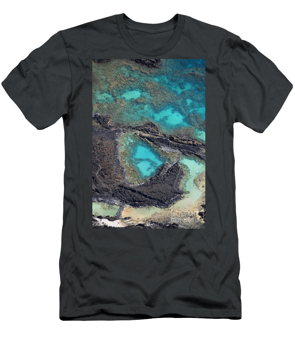 Aerial Men's T-Shirt (Athletic Fit) featuring the photograph Ahihi Kinau Natural Preserve by Ron Dahlquist - Printscapes