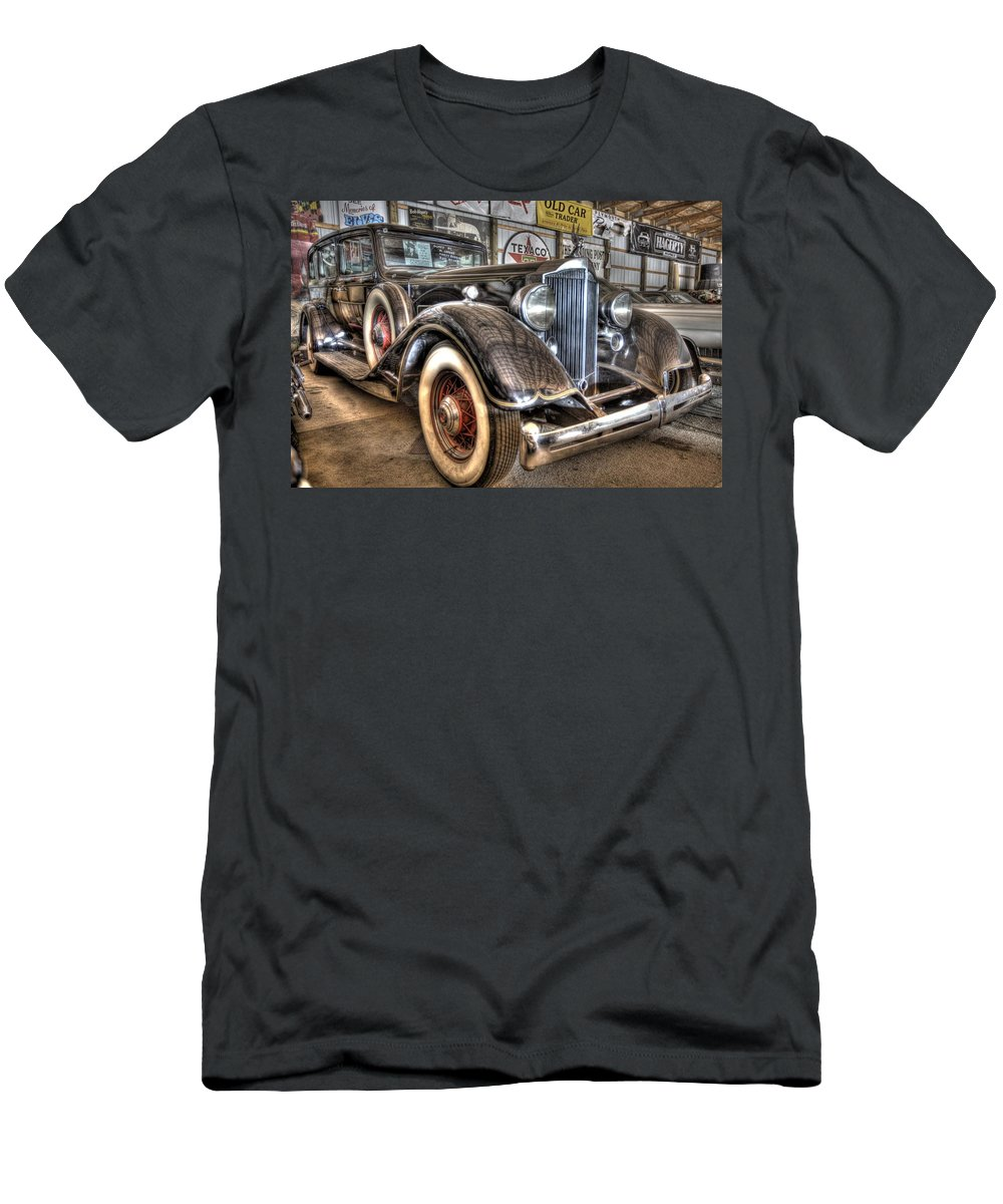 Al Capone Men's T-Shirt (Athletic Fit) featuring the photograph Al Capone's Packard by Nicholas Grunas