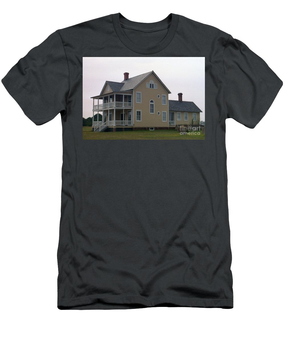 Alabama Men's T-Shirt (Athletic Fit) featuring the digital art Alabama Coastal Home by Richard Rizzo