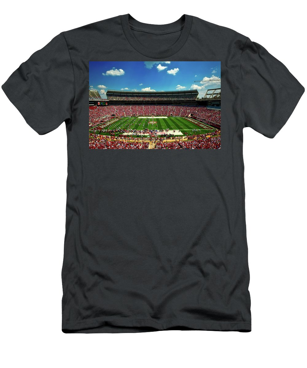 University Of Alabama Men's T-Shirt (Athletic Fit) featuring the photograph Alabama Football - Spring Game by Mountain Dreams