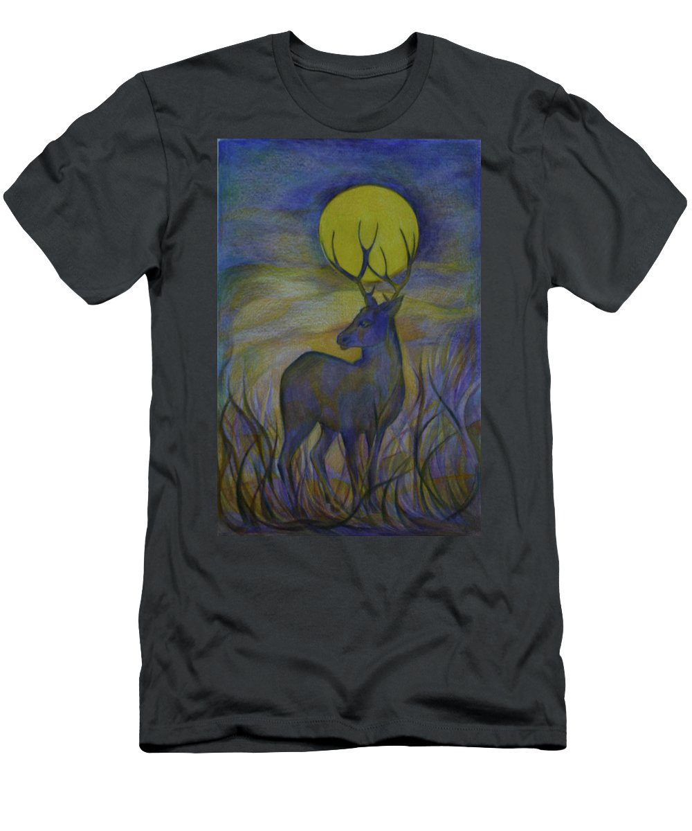 Travel Men's T-Shirt (Athletic Fit) featuring the drawing Alaska Stories. Part Four by Anna Duyunova