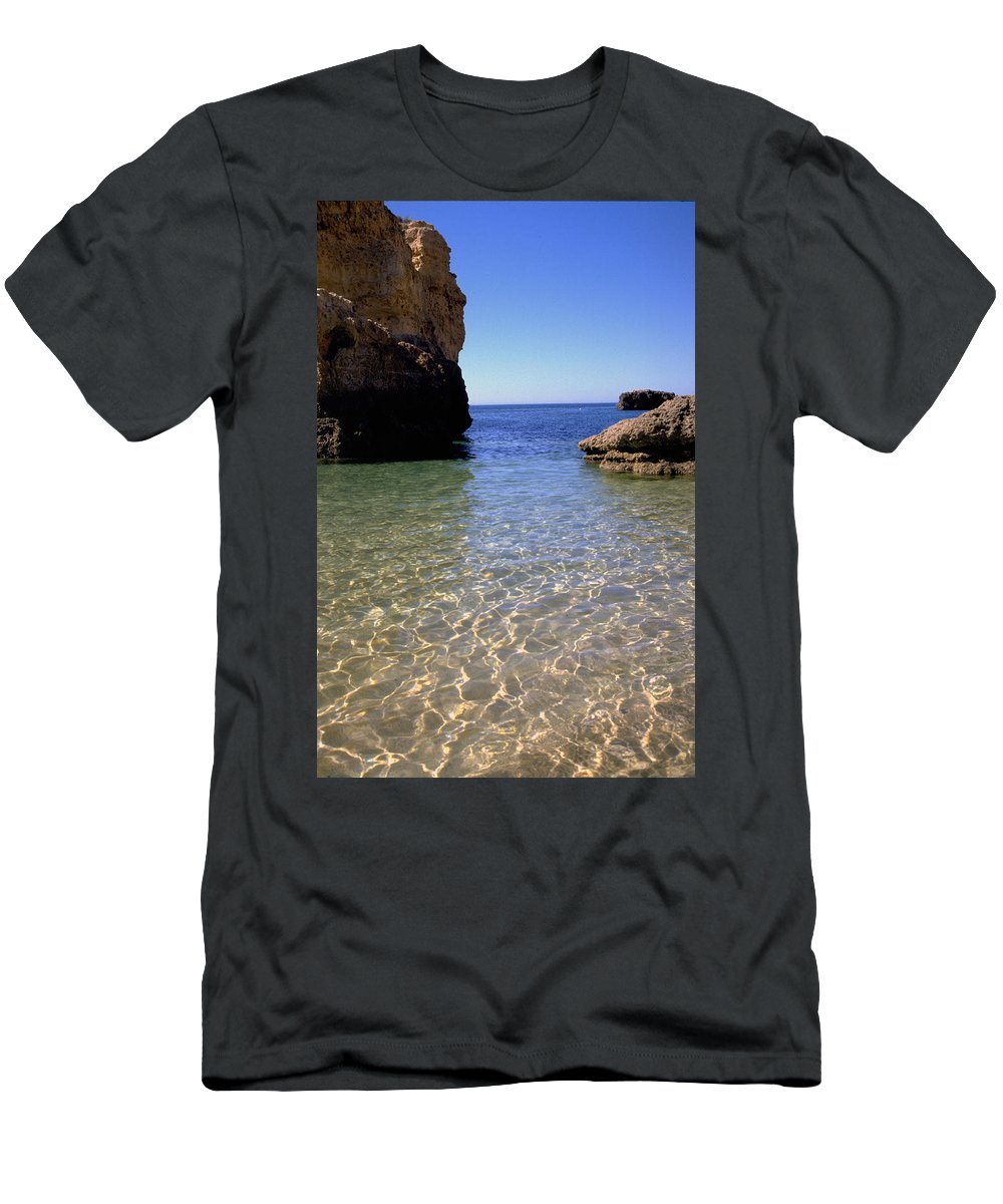Algarve Men's T-Shirt (Athletic Fit) featuring the photograph Algarve I by Flavia Westerwelle