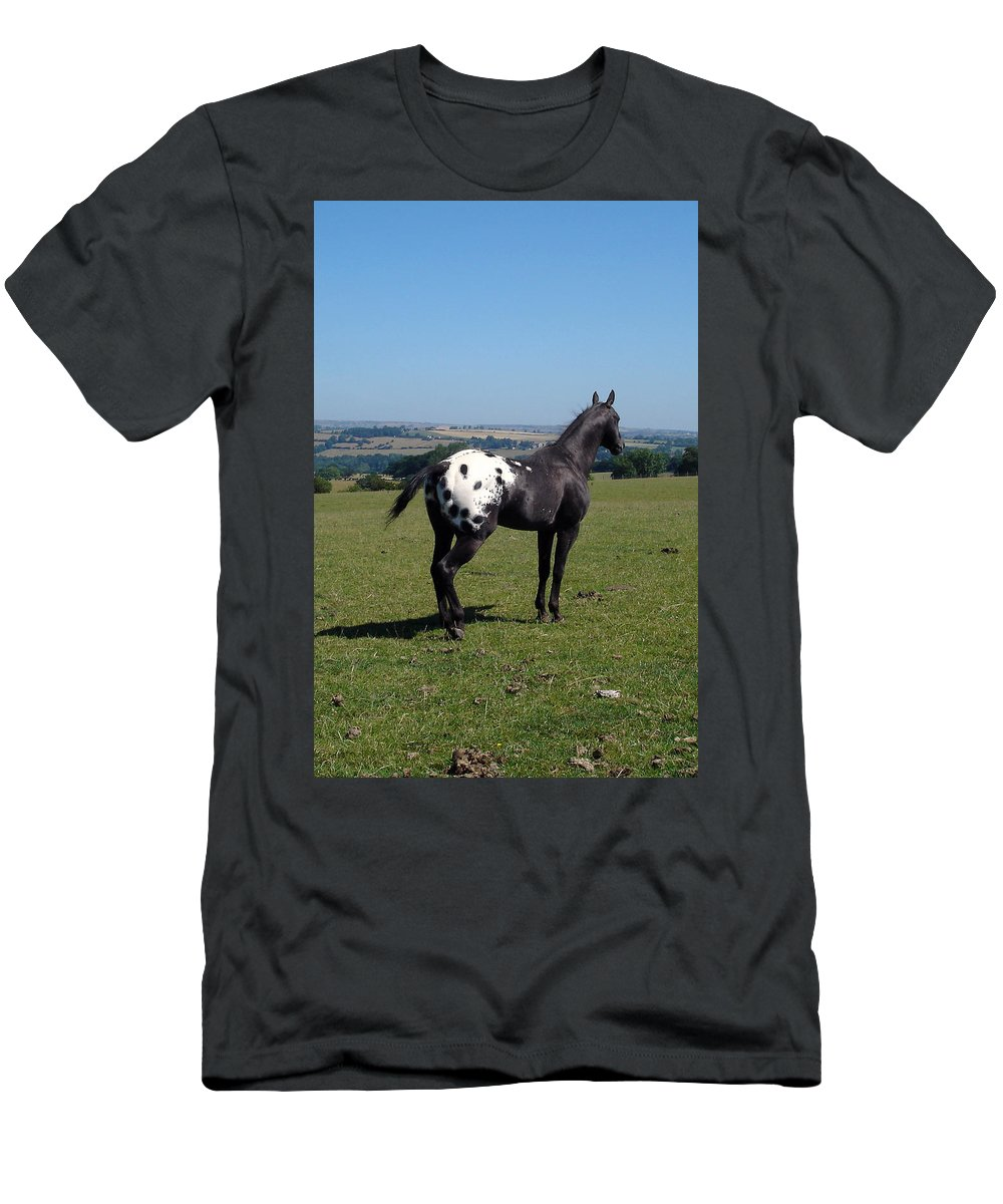 Horses Men's T-Shirt (Athletic Fit) featuring the photograph All He Surveys by Susan Baker