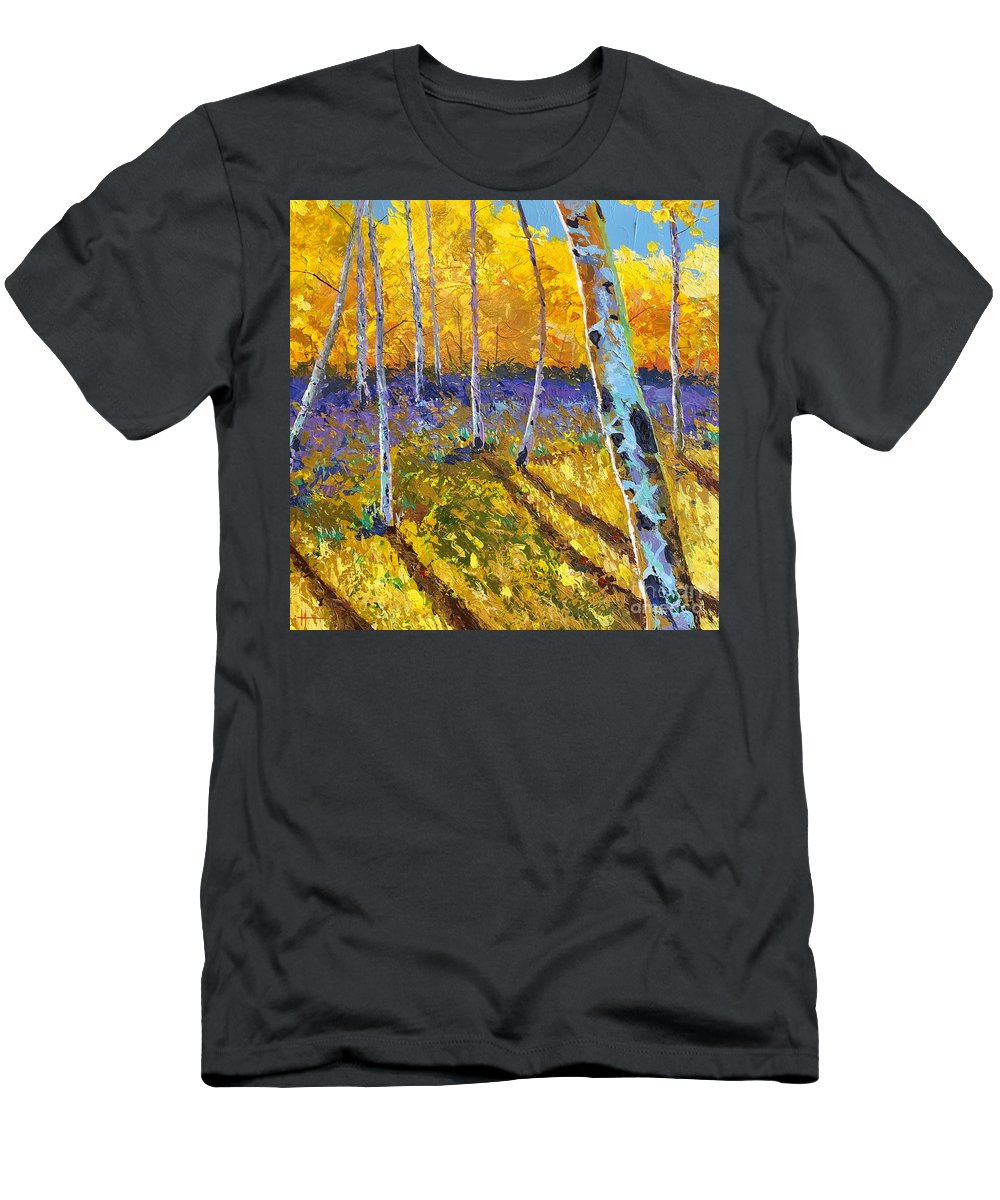 Aspen T-Shirt featuring the painting All In The Golden Afternoon by Hunter Jay
