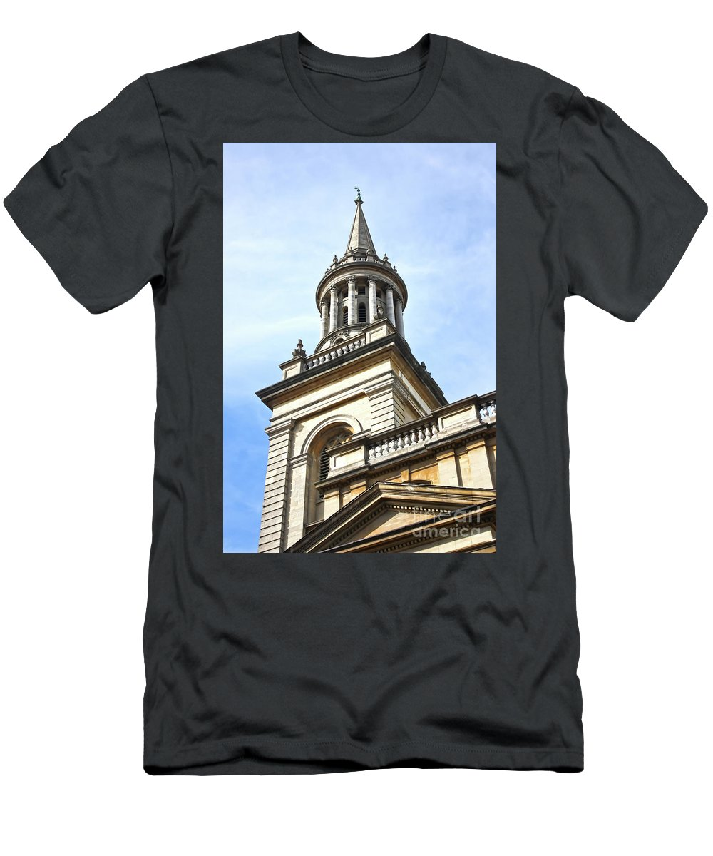 City Of Oxford Men's T-Shirt (Athletic Fit) featuring the photograph All Saints Church Oxford High Street by Terri Waters