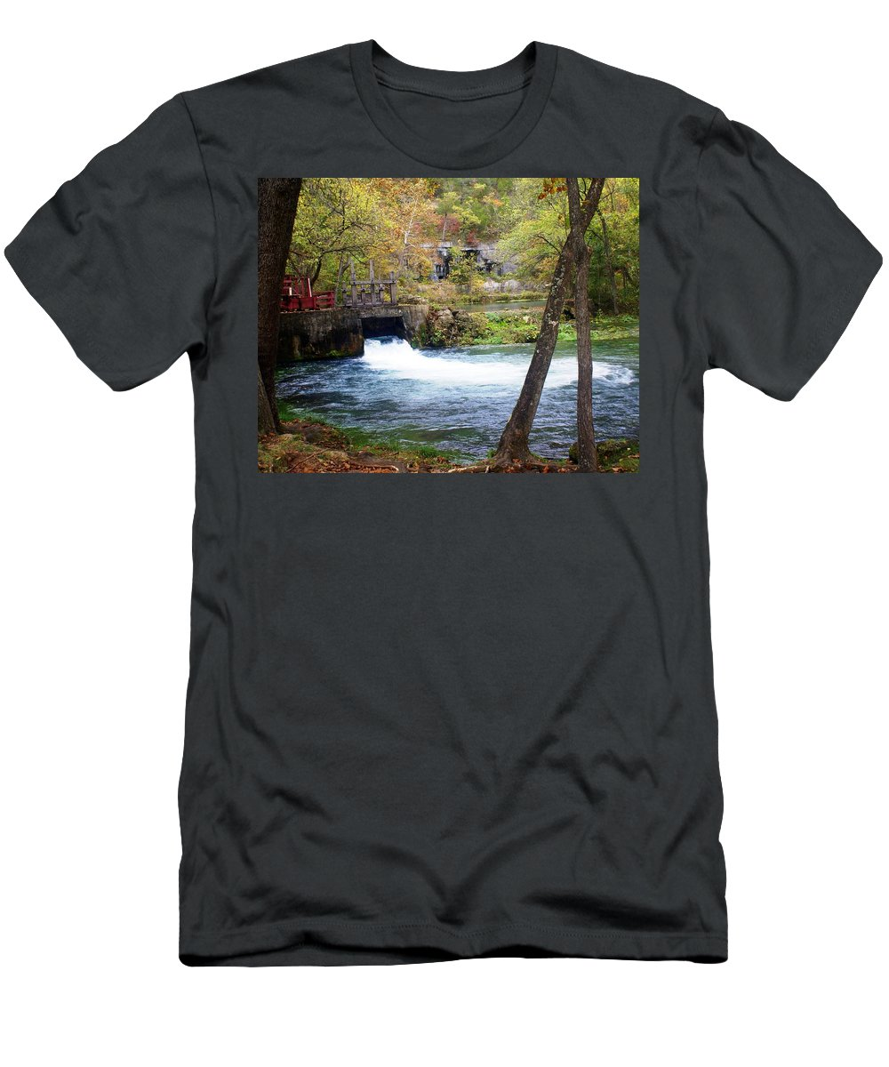 Alley Spring Men's T-Shirt (Athletic Fit) featuring the photograph Alley Spring by Marty Koch