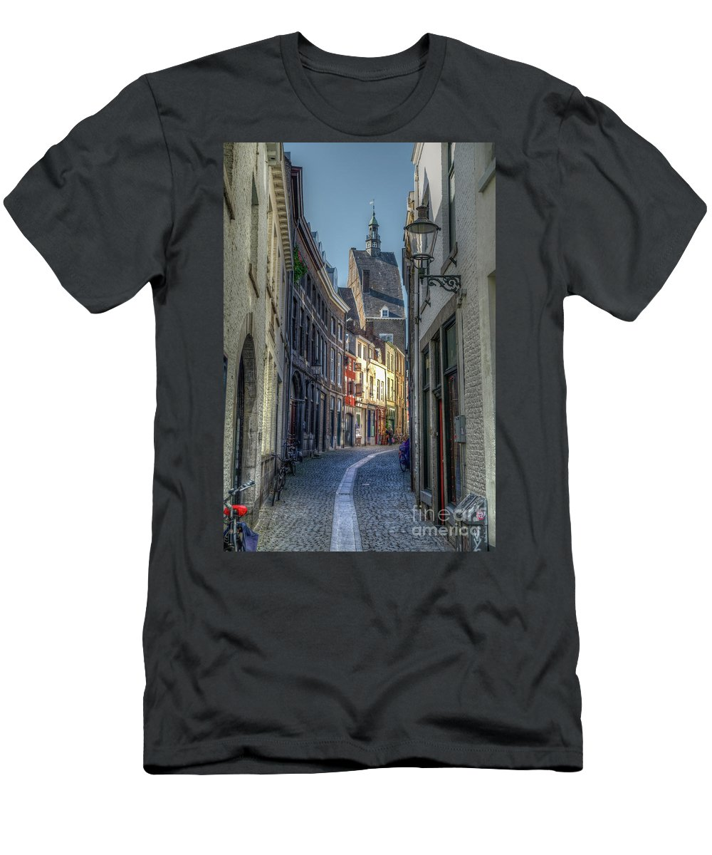 Passage Men's T-Shirt (Athletic Fit) featuring the photograph Alleyway by Brothers Beerens