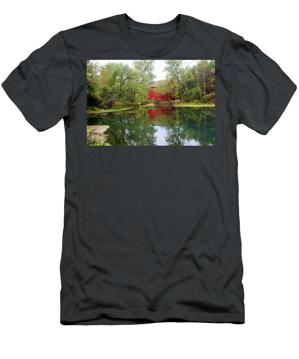 Mill Men's T-Shirt (Athletic Fit) featuring the photograph Allsy Sprng Mill by Marty Koch