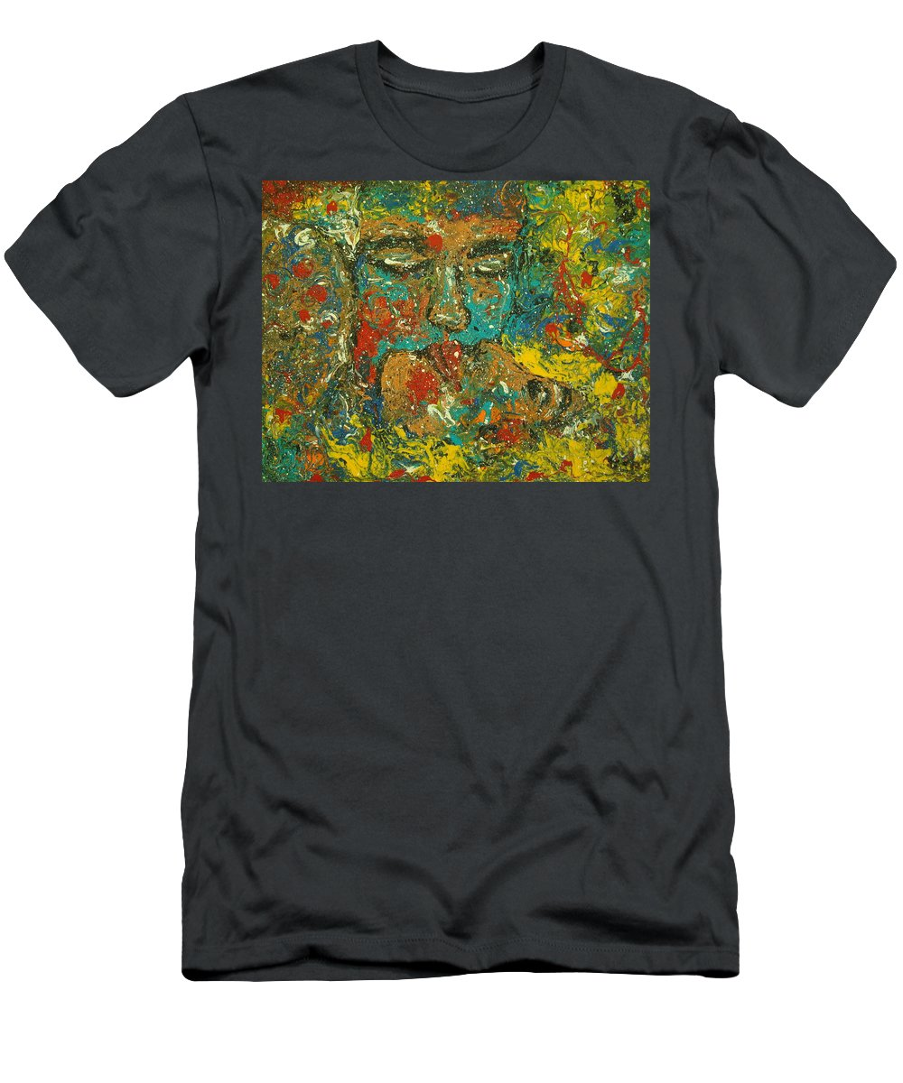 Romantic Men's T-Shirt (Athletic Fit) featuring the painting Allure Of Love by Natalie Holland